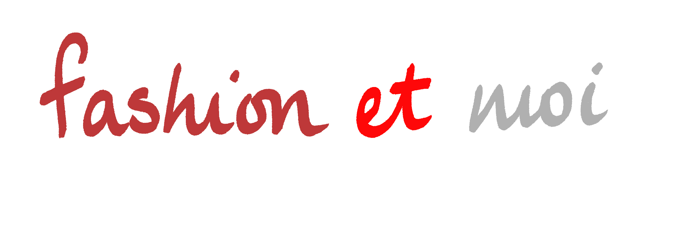 Fashion Et Moi logo in red burgundy and grey