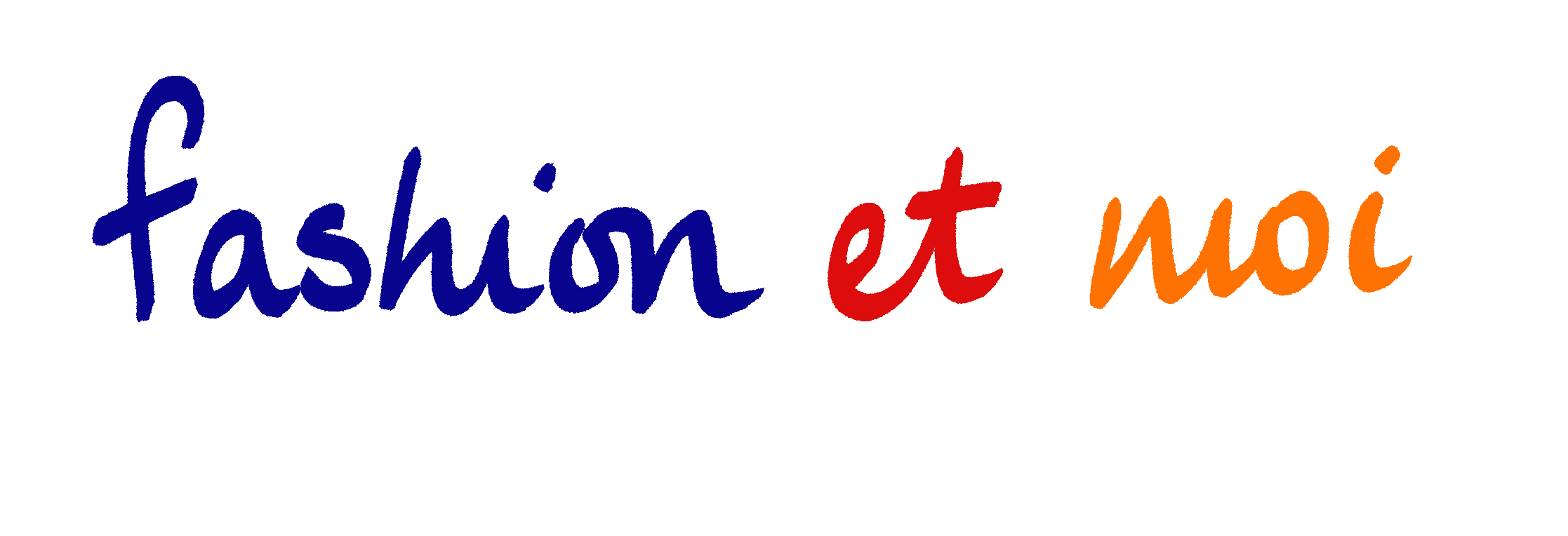 Fashion Et Moi logo in blue red orange