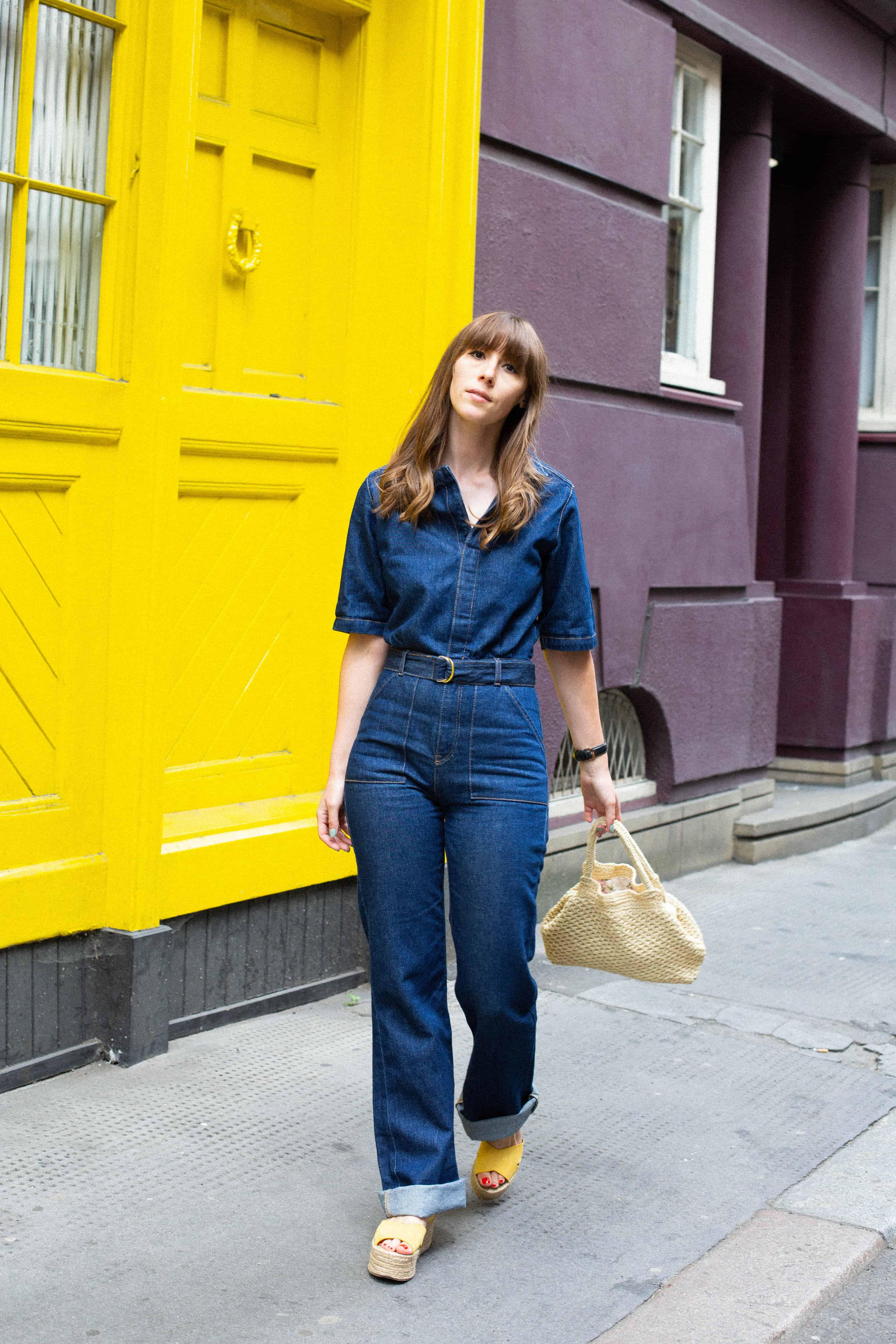 new items get new quality design 70s style denim jumpsuit - Fashion Et Moi